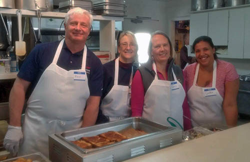 Rex, Tammy, Valerie, and Cynthia at the La Pine Community Kitchen