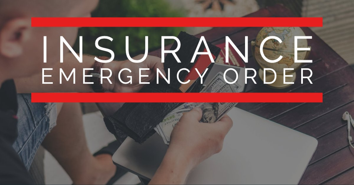 insurance emergency order oregon